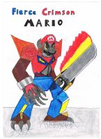 Fierce Crimson Mario by Nawel249