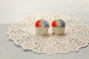 Polymer Clay 4th of July Snow Cones by CharmStop