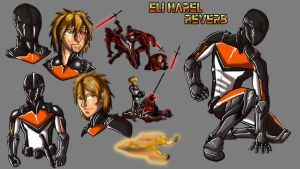 Eli Harel Character sheet by IHComicsHQ