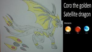 Coro the golden satellite dragon by pd123sonic