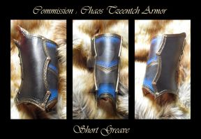 Commission : Chaos Tzeentch Armor greave by Deakath