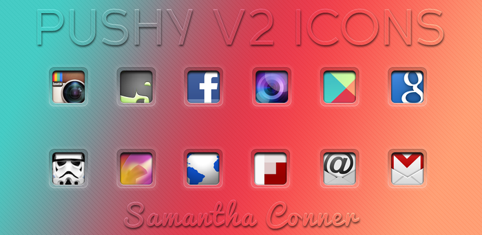 Pushy V2 Icons by sammyycakess