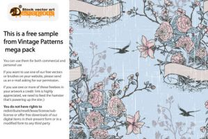 Free vector vintage pattern by pixel77-freebies