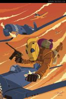 Rocketeer at war by PaulRomanMartinez