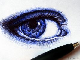 Ball pen sketch by Schoerie