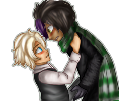 The ALMOST kiss by RainbowRoosta
