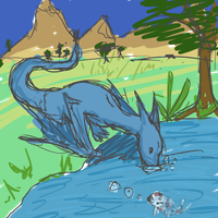 Dragon in the Koi Pond by Acoyph