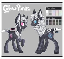 Glow-Ponies - Open Species by crystalicethorn