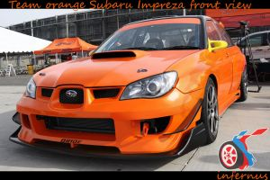 Subaru Impreza Orange front by janmarkelj