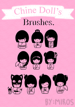 Chine Doll's Brushes by craftingandmore