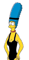 Marge Simpson in Flashdance by darthraner83