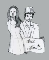 Hatter and Alice -Alt. Version by Loralthea