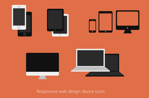 Responsive Web Design Devices Icon PSD by cssauthor