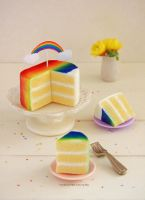 1:12 scale Rainbow Cake by Almadejonge