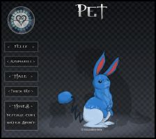 Pocket Hearts Pet App - Felix the Azumarill by tiakaneko
