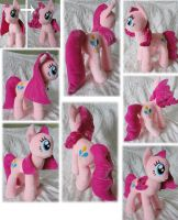 Plain Pinkie Pie plush by Rens-twin