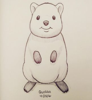 Inktober day 28 - Quokka by meihua