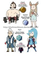 PokedexTime! Gold/Silver Gym leaders 2 by thelimeofdoom