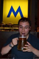 Beer at Moritz, Barcelona by cncplyr