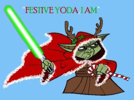 Festive Yoda by DryEyez
