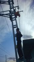I'm on an electric pole by TR4Y
