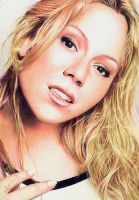 Mariah Carey on Colored Pencils by Marcusrafaelft
