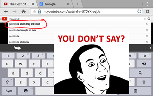 You don't say? Oh Youtube by Internetexplorer968