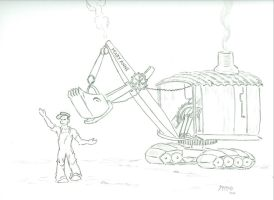 Mike Milligan and Steam Shovel by Bat1962js