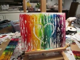 Melted Crayon Art - Heart by Live-A-Little05
