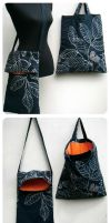 Bright Orange Lining Bags by PolClary