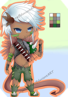(OPEN) 7usd/700points~ :Adopts: 03 Tribal Warrior by AngelicsMana