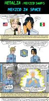 Hetalia Mexico and USA - first  in space by chaos-dark-lord