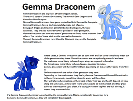 Gemma Draconem Reference Sheet by CuppieCakeAdopts