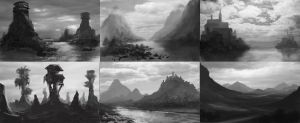 Fantasy Landscapes Thumbs by jjpeabody