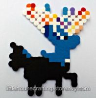 Xerneas Perler (Pokemon) by LittleHouseCrafting