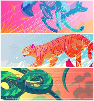 Colorful elements by the3Ss
