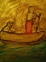Two Guys On a Boat by jutto
