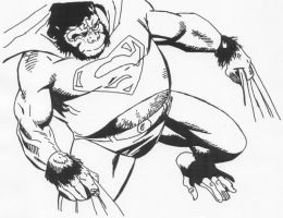 Superman as Gorilla 1 by Stonegate