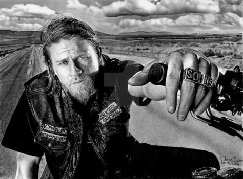 Jax Teller - Sons Of Anarchy by Chrisbakerart