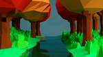 Low poly river by Jackymer