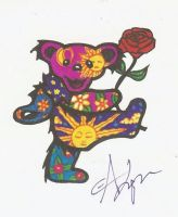 Grateful Dead Bear by Blackwidowtat2