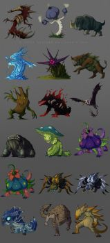 freelance - monsters by Sythgara