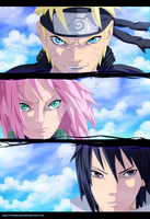Naruto 632 - Team 7 by the103orjagrat
