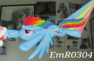 Rainbow Dash Paper Pony by EmR0304