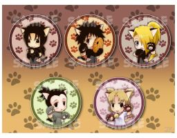 Naruto_kitties button set2 by meago