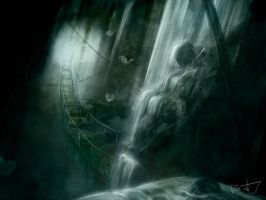 Waterfall Cave by CloudStrife1993