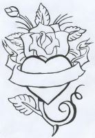 rose tattoo by morbid-curiousity