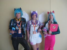 The BronyCon mascot cosplayers by AleximusPrime