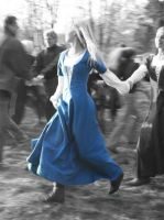 Medieval: A girl dancing by AnEvilBunnyAventia