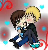 A war boy and his lovely poke'trainer girl ~love~ by xlightbluesnowflakex